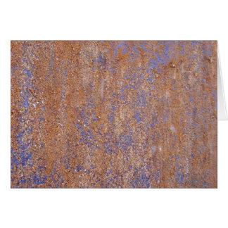 Oxidação azul cartão comemorativo
