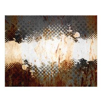 Oxidação urbana nervosa com disposição do Splatter Flyer 21.59 X 27.94cm