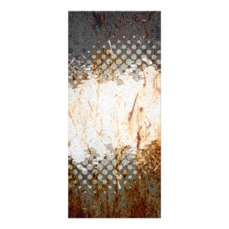 Oxidação urbana nervosa com disposição do Splatter 10.16 X 22.86cm Panfleto