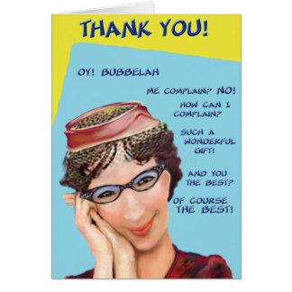 Oy Bubbelah! Cartões de agradecimentos