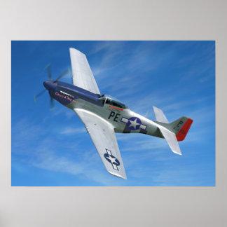 "P-51D ""Cripes A poderoso "" Pôster"