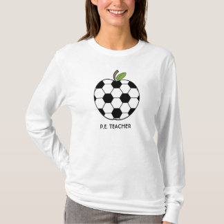P.E. Camisa do professor - bola de futebol Apple
