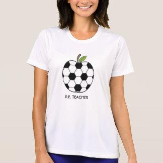 P.E. Camisa do professor - bola de futebol Apple Camisetas