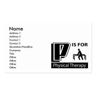 P é para a fisioterapia cartão de visita