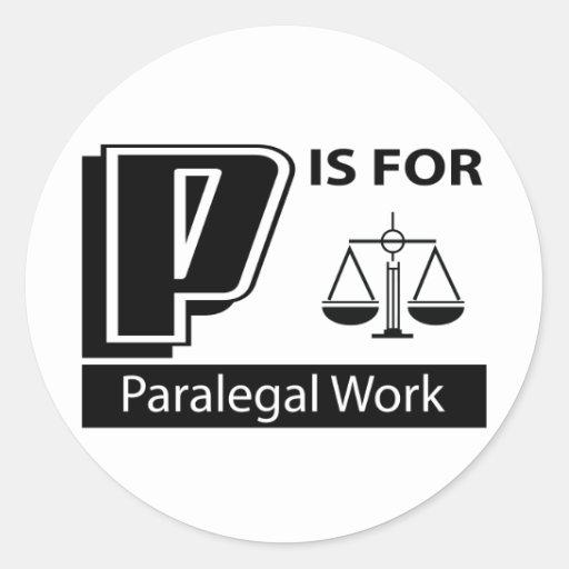 P é para o trabalho do Paralegal Adesivos