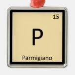 P - Mesa periódica da química do queijo do Parmigi Ornamento