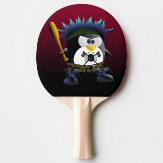 Pá azul de Pong do sibilo do pinguim da anarquia Raquete De Tênis De Mesa