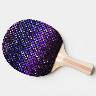 Pá Bling de cristal roxo Strass de Pong do sibilo Raquete De Pingpong