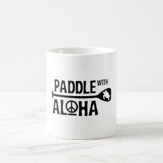 Pá com Aloha a caneca da patrulha de um alvorecer