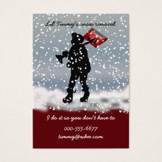 pá da neve cartão de visitas