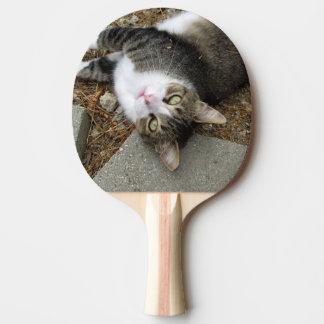 Pá de cabeça para baixo de Pong do sibilo do gato Raquete De Tênis De Mesa