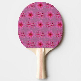 Pá de Pong do sibilo da flor do hibiscus Raquete Para Ping Pong