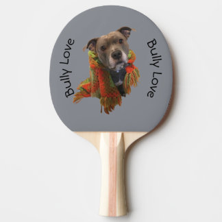 Pá de Pong do sibilo do amor da intimidação de Raquete De Tênis De Mesa