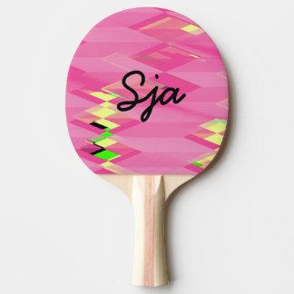 Pá de Pong do sibilo do design do ziguezague do Raquete De Tênis De Mesa