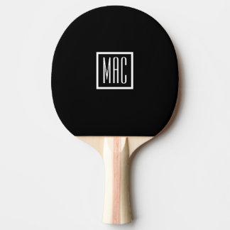 Pá de Pong do sibilo do preto do monograma Raquete Para Tênis De Mesa