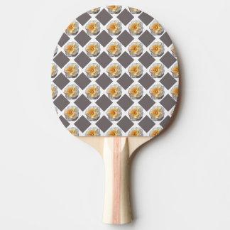 Pá de Pong do sibilo dos quadrados do rosa amarelo Raquete De Pingpong