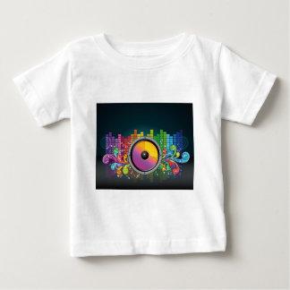 PA RETRO COLORIDO dos AUTO-FALANTE do ARCO-ÍRIS Camiseta Para Bebê