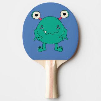 Pá verde de Pong do sibilo dos miúdos do monstro Raquete Para Tênis De Mesa