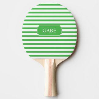Pá verde personalizada de Pong do sibilo da listra Raquete Para Ping Pong