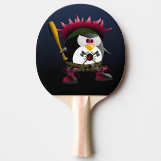 Pá vermelha de Pong do sibilo do pinguim da Raquete De Ping-pong