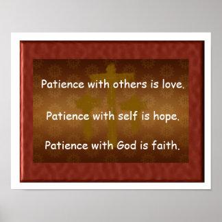 Paciência com deus poster