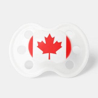 Pacifier canadense do bebê da bandeira chupeta de bebê