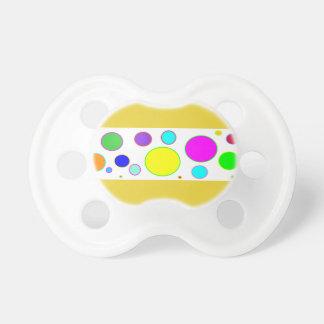 Pacifier colorido do bebê das bolhas chupeta