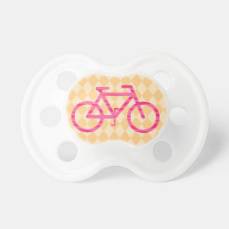 Pacifier cor-de-rosa e alaranjado da bicicleta chupeta de bebê