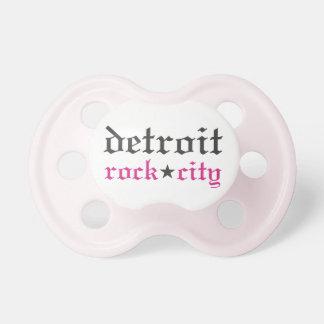 Pacifier da cidade da rocha do Detroit do bebé Chupeta
