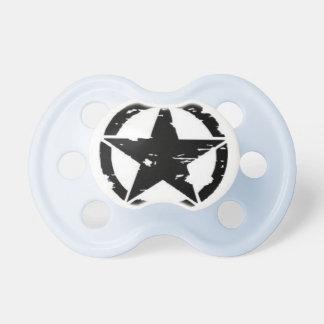 Pacifier da estrela do exército do bebê chupeta