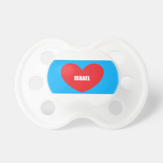 Pacifier do bebê do coração do amor de Israel Chupeta