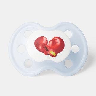 Pacifier do design das luvas de encaixotamento chupeta de bebê