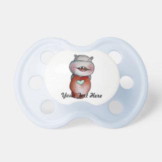 Pacifier engraçado do hipopótamo chupeta para bebê