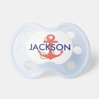 Pacifier náutico do bebê para o presente do chá de chupeta de bebê