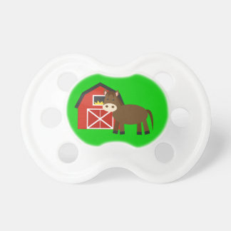 Pacifiers originais do bebê do cavalo e do celeiro chupeta para bebê