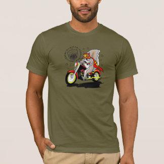 Paco na motocicleta camiseta