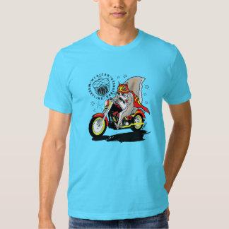 Paco na motocicleta camisetas