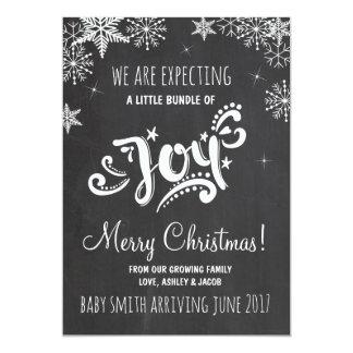 Pacote de anúncio da gravidez do Natal da alegria