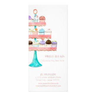 Pacote de negócio da padaria do cozimento da sobre 10.16 x 22.86cm panfleto