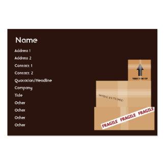 Pacotes - carnudos cartões de visitas