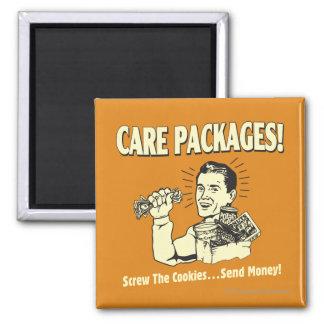 Pacotes de cuidado: Os biscoitos do parafuso envia Ímã Quadrado