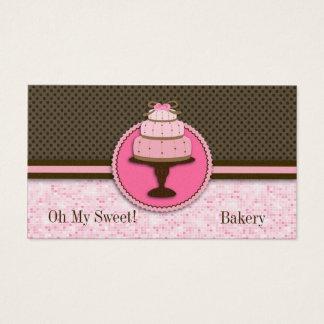Padaria cor-de-rosa bonito do bolo: Cartões de