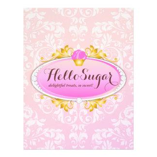 Padaria customizável do açúcar do olá! 311 modelos de panfleto