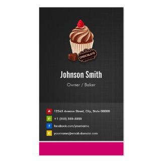 Padaria da pastelaria do cupcake do chocolate doce cartão de visita