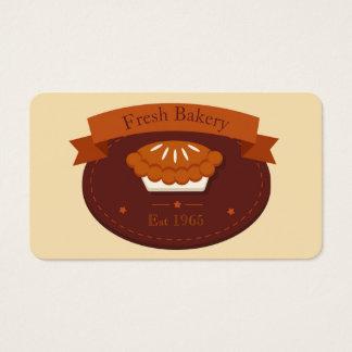 Padaria da torta do vintage cartão de visitas