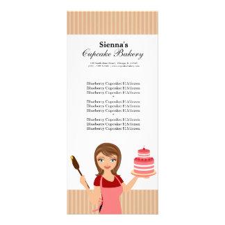 Padaria do cupcake 10.16 x 22.86cm panfleto