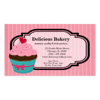 Padaria do cupcake cartão de visita