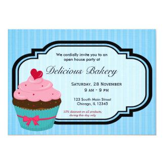 Padaria do cupcake convite personalizado