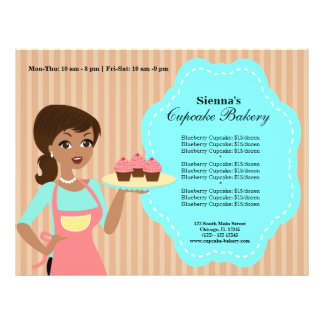 Padaria do cupcake flyer 21.59 x 27.94cm