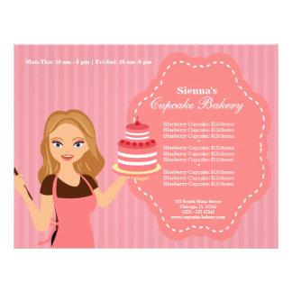 Padaria do cupcake panfleto personalizado